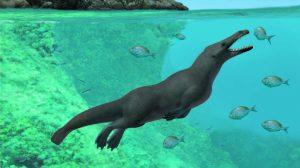 Hallan restos de una ballena con patas en Egipto
